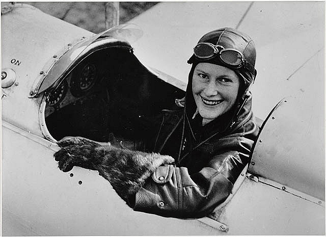 Nancy Bird in Gipsy Moth at Kingsford Smith Flying School, 1933 / by unknown photographer