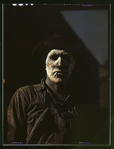 Worker at carbon black plant, Sunray, Texas (LOC)  Vachon, John,, 1914-1975,, photographer.